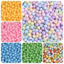 Разноцветные пенопластовые шарики 2-4 мм/5-10 мм, мини-бусины, пенопластовый наполнитель, пузырьковый шар, сделай сам, украшение для свадьбы, Ро...