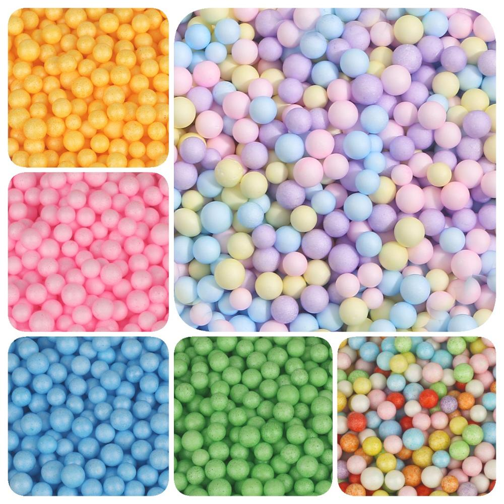 2-4 Mm/5-10 Mm Multi Color Foam Ballen Mini Kralen Polystyreen Piepschuim Filler Bubble Bal diy Wedding Christmas Party Decoratie