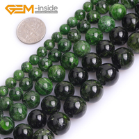 New High Quality AAA Grade Natural Round Smooth Green Diopside Loose Bead For Jewelry Making Strand 15 inches 6mm 14mm Wholesale