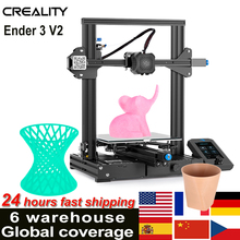 Creality 3D Ender-3 V2 3D Printer Kit All-Metal Integrated Structure Silent Mainboard