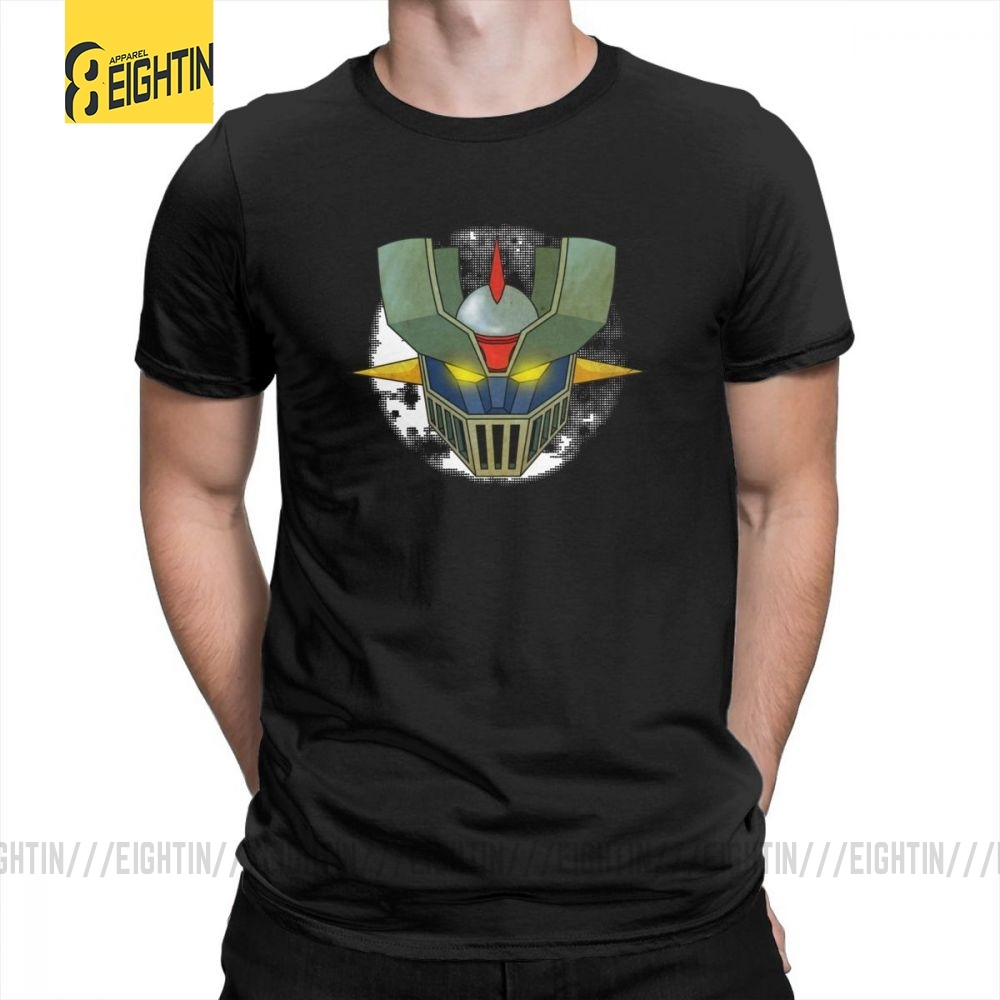 <font><b>Mazinger</b></font> <font><b>Z</b></font> <font><b>T</b></font> <font><b>Shirts</b></font> Male Round Neck Tee <font><b>Shirt</b></font> Purified Cotton <font><b>T</b></font>-<font><b>Shirts</b></font> Short Sleeve Hot Sale Wholesale Large Size Japanese Comic image