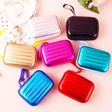 Mini Cute Zipper Hard Headphone Holder Case Portable Earbuds Pouch Box Earphone Cover Storage Bag Protective USB Cable Organizer цена и фото