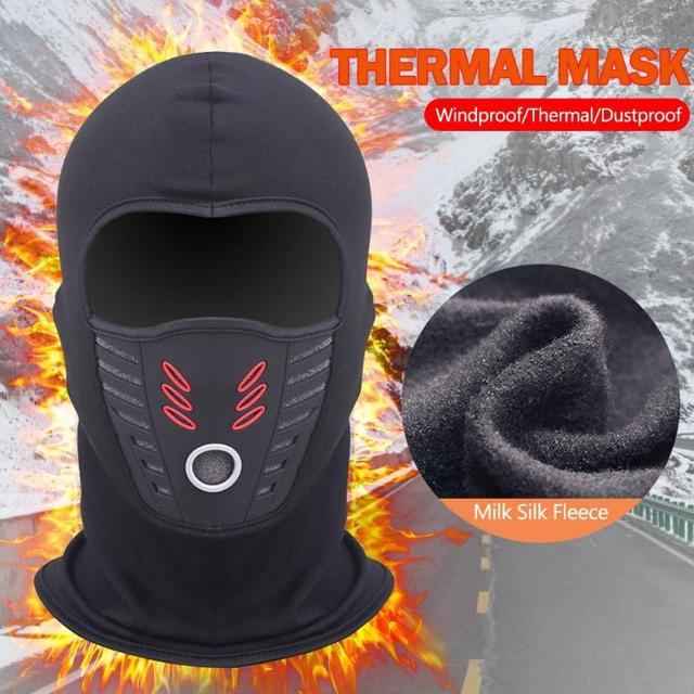 Winter Windproof Motorcycle Mask Polar Fleece Neck Warmer Thermal Balaclava Full Face Shield 3