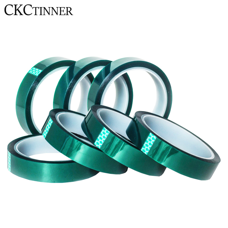 5/6/8/10/12/15/20-80MM X 33M Green High Temperature Resistant Kapton Tape Polyimide For Electric Task/grills/powder Coating