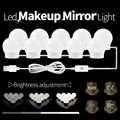 Lustro toaletowe LED lampa LED 12V USB LED Hollywood makijaż światła toaletka światło lustrzane żarówka wtyczka do usa ue ściemniania kinkiet