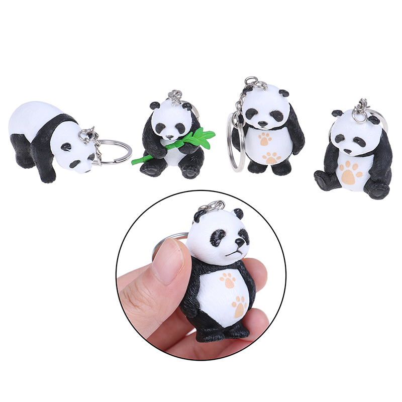 1PCS New Panda Keychain New Cute Panda Keychain For Bag Car Keychain Tourism Souvenir Gifts Random