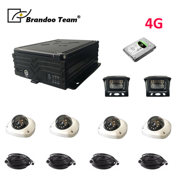 Auto Recorder with Cameras 4-channel Vehicle Recorder Car DVRs GPS DVR 4 Camera Car Recorder