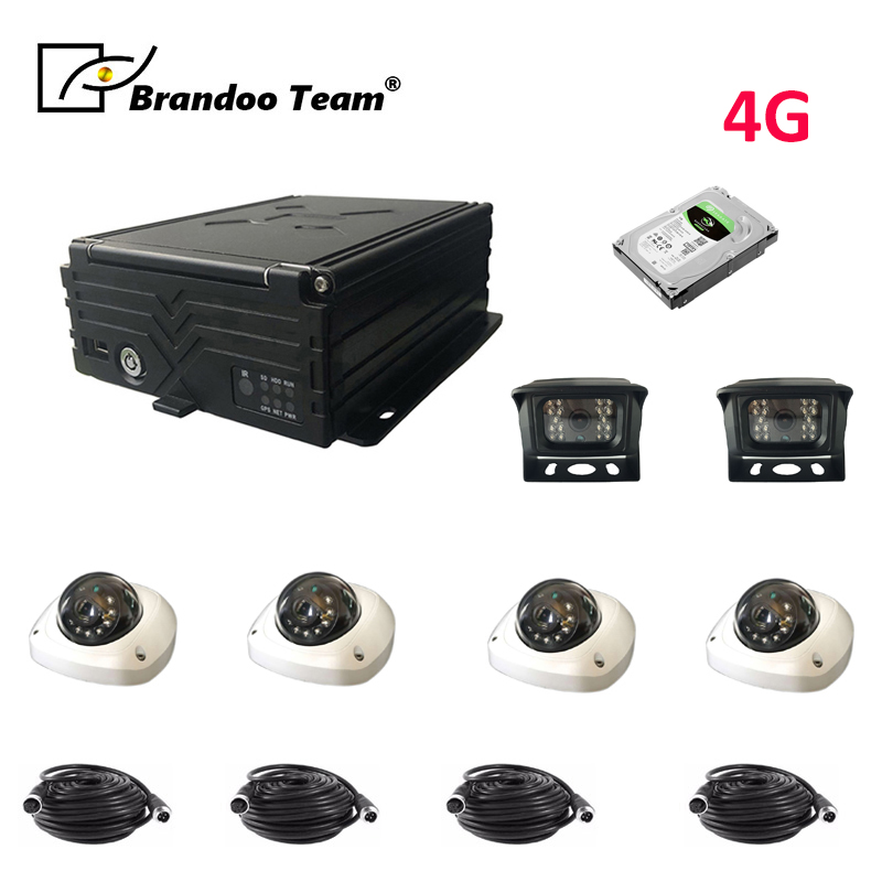 Auto Recorder with Cameras 4-channel Vehicle Recorder <font><b>Car</b></font> <font><b>DVRs</b></font> GPS DVR 4 Camera <font><b>Car</b></font> Recorder image