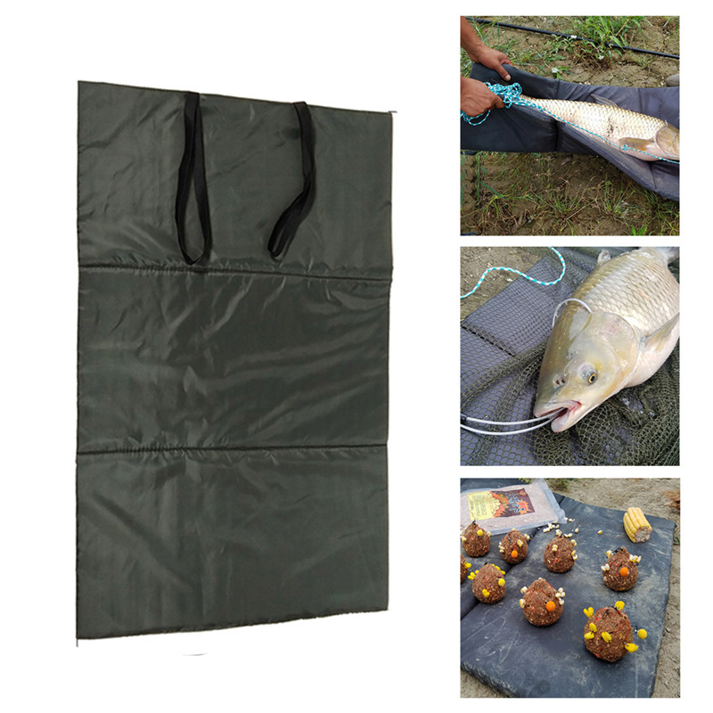 Foldable Unhooking Mat Waterproof Landing Mat Pad For Fish Protection Carp Fishing Tackle Lightweight Fish Fold Over Straps Tool