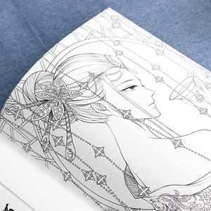Image 3 - كتب التلوين الصينية للبالغين والأطفال الكلاسيكية القديمة الجمال الاسترخاء مكافحة الإجهاد تلوين كتاب خط الرسم الكتاب المدرسي