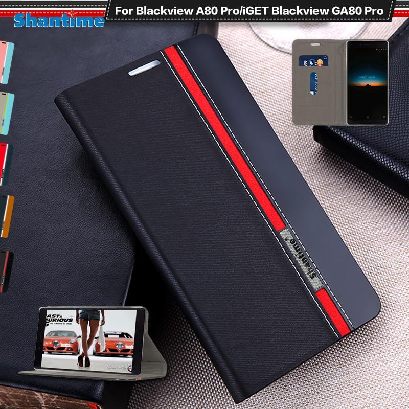 Роскошный чехол из искусственной кожи для Blackview A80 Pro, флип чехол для iGET Blackview GA80 Pro, чехол для телефона чехол из мягкого ТПУ силикона|Чехлы-портмоне|   | АлиЭкспресс