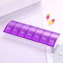 7 dias semanais pílula organizador tablet pílula caixa de armazenamento plástico medicina caixa divisores nin668