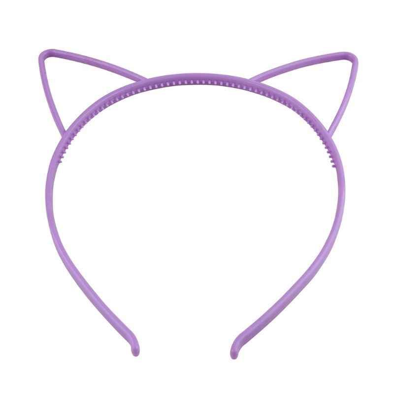 เด็กน่ารักการ์ตูนชี้แมวหู Headband หวานลูกอมสี Hollow Out Hair Hoop Anti-Skid ฟัน Princess Party headwear