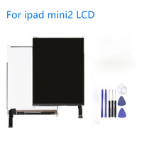 Tested Screen For ipad mini A1432 A1454 A1455 LCD Display For iPad Mini 2 A1489 A1490 A1491 Free Tools+Sticker +Middle Frame