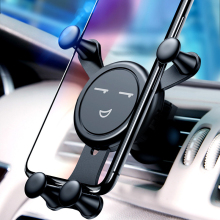 Car mobile phone bracket universal  linkage car creative outlet smile