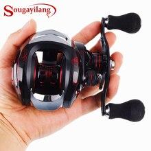 Sougayilang carretel de fundição carretel 17 + 1bb direita/esquerda lidar com engrenagem 7.2:1 carretel de pesca roda pesca equipamento 12kg max arraste
