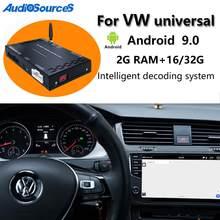 Auto Android 9,0 Carplay coche reproductor multimedia caja decodificadora para VW/Volkswagen/Golf/Polo/Tiguan/Passat/b7/CC/asiento/leon/Skoda