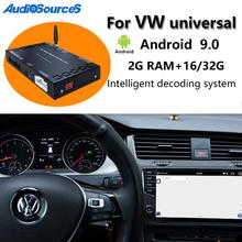 Auto Android 9,0 Carplay Auto multimedia player dekodierung box Für VW/Volkswagen/Golf/Polo/Tiguan/passat/b7/CC/SITZ/leon/Skoda