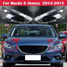 אוטומטי פנס מקרה עבור מאזדה 6 Atanza 2014 2015 רכב קדמי פנס זכוכית כיסוי ראש אור עדשת פגז Lampcover אהיל Caps