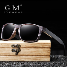 GM Wooden Sunglasses Polarized Men Sports Sun Glasses Outdoors