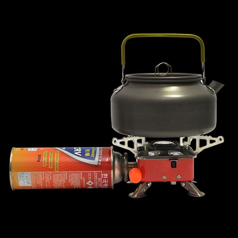 Мини Кемпинг плита складной Открытый газовая плита портативный пикника Сплит плита-горелка