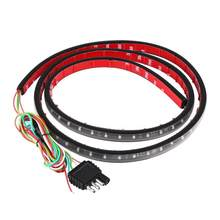 60-Inch Ultra-Thin Red And White Bi-Color Led Pickup Truck Special Brake Steering Waterproof Safety Light Belt(China)