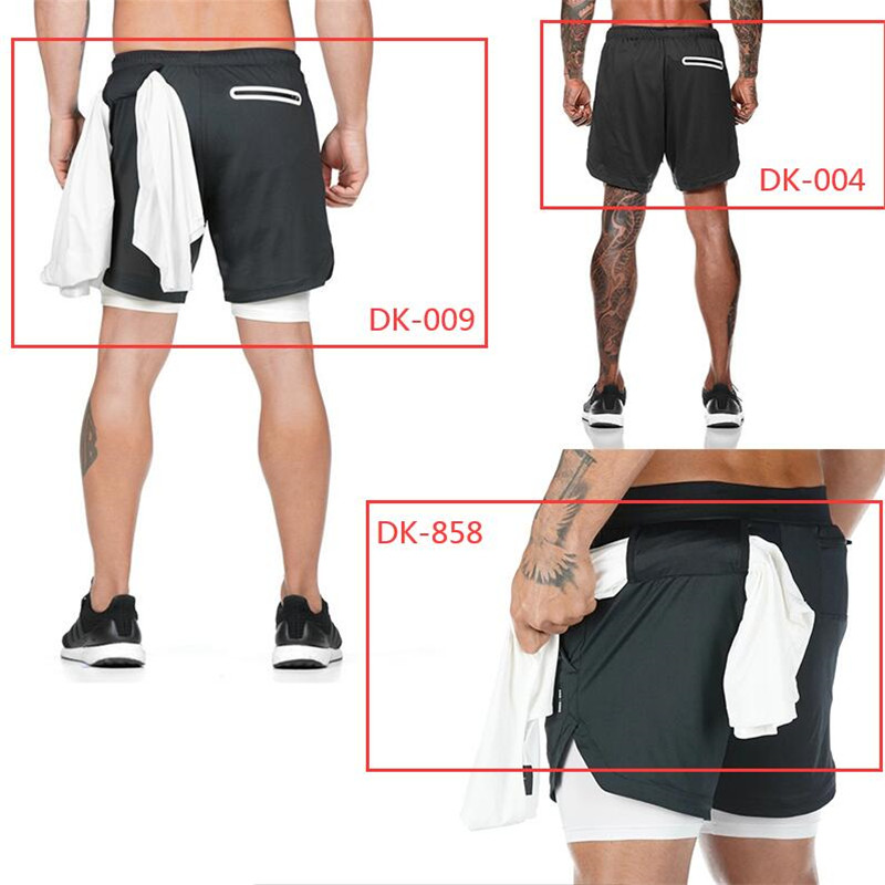 Closeout Deals2020 NEW Men's Running Shorts Mens 2 in 1 Sports Shorts Male double-deck Quick Drying Sports men Shorts Jogging Gym Shorts men
