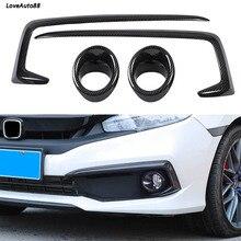 Car Front Head Frame Fog Light Lamp Bumper Eyelid Chrome Trim Cover For Honda Civic 10th 2016 2017 2018 Car Accessories цена