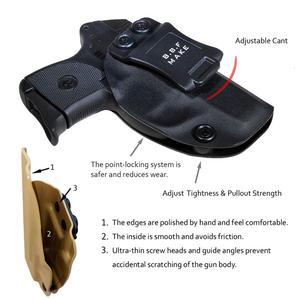Image 5 - BBF Make IWB KYDEX נרתיק אישית מתאים: רוגר LCP 380 אקדח מקרה בתוך הסתיר לשאת חגורת אקדח פאוץ עם חגורת קליפ