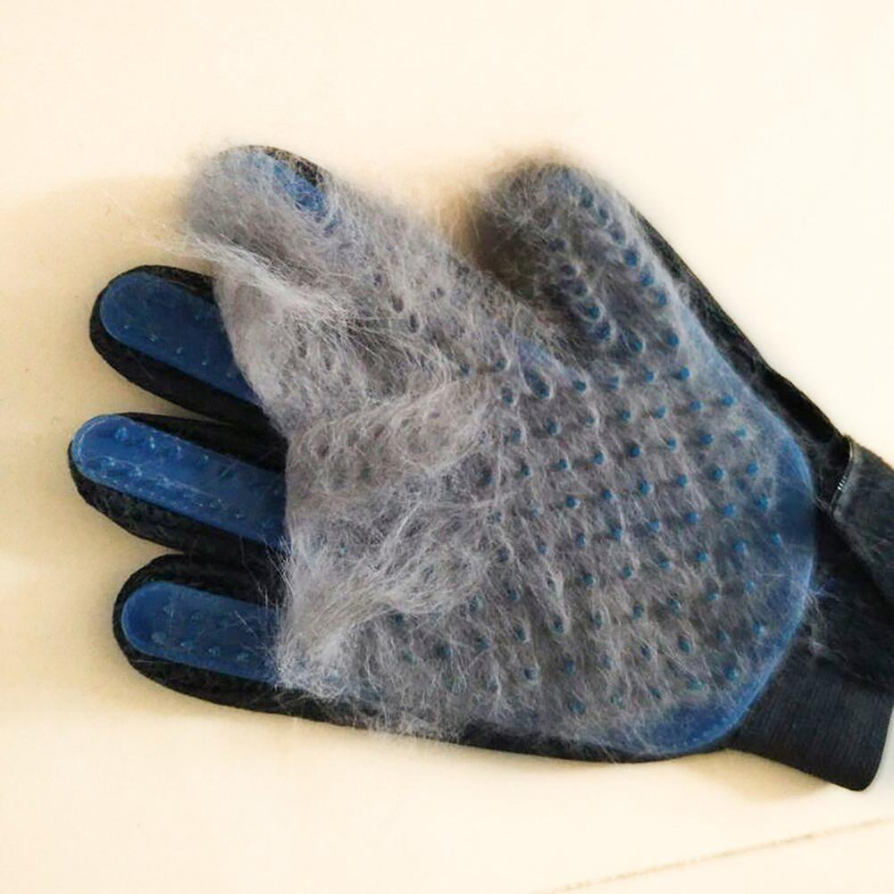 Купить с кэшбэком GloryStar Massage Glove Hair Remove Tool for Pet Dogs Cats (Color Box Packing+Manual)