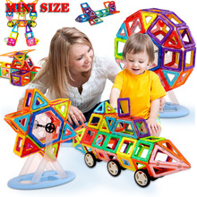 Building-Toy Magnet Magnetic-Blocks-Set Construction Plastic Children Diy for Color-Mixing