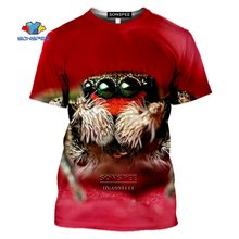 Насекомое Паук Мужская футболка 3d принт животных паутинки;
