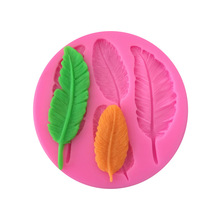 1PC feather candy silicone mold fondant mold cake decoration tool chocolate glue mold handmade soap chocolate  fondant soap flower modelling silicon soap mold fondant cake decoration mold sleep baby soap mold 100% food grade raw material