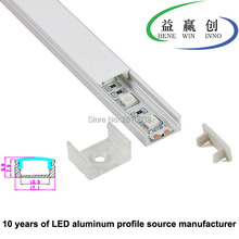 10Sets/Lot U type Led aluminum profile or style Aluminium LED Channel for led strip 5050 recessed wall