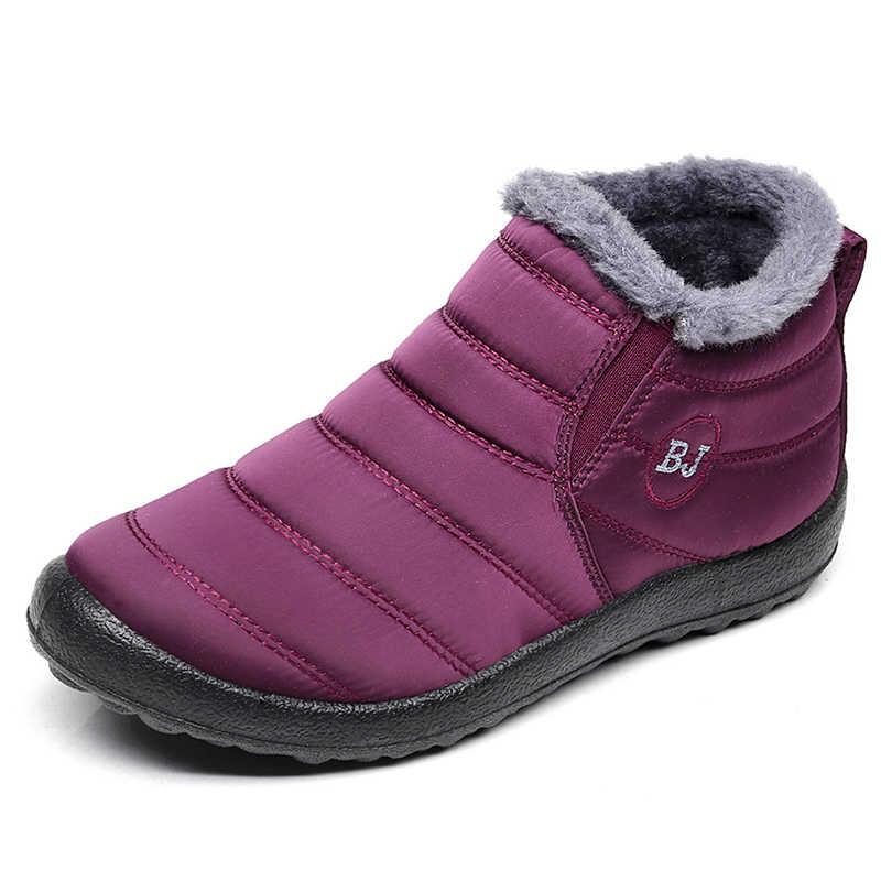 รองเท้าบู๊ตหิมะผู้ชาย 2019 รองเท้าผู้ชายฤดูหนาวรองเท้าแฟชั่นผู้ชายข้อเท้ารองเท้ากันน้ำ Warm Slip บนรองเท้าชาย