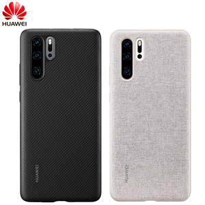 Image 1 - Huawei P30 Case From Huawei Official Original Leather Protecive Cover Carbon / Canvas Fiber Business Style Huawei P30 case