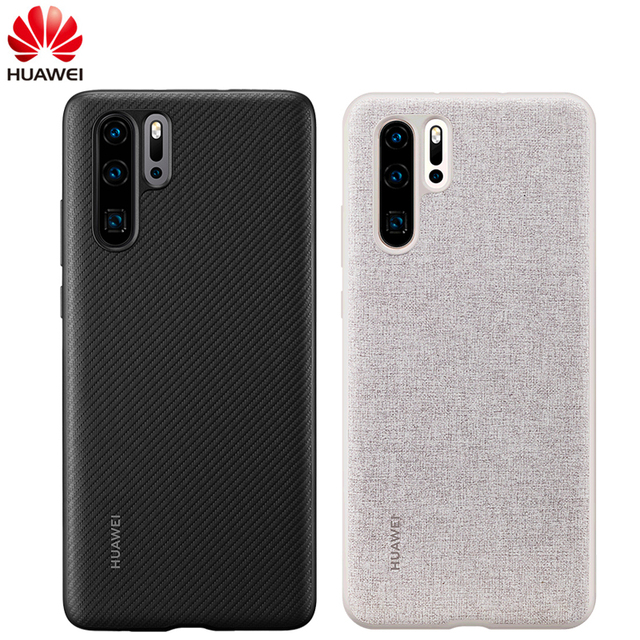 Huawei社からP30ケースhuawei社公式proteciveカバーカーボン/キャンバス繊維ビジネススタイルhuawei社P30ケース
