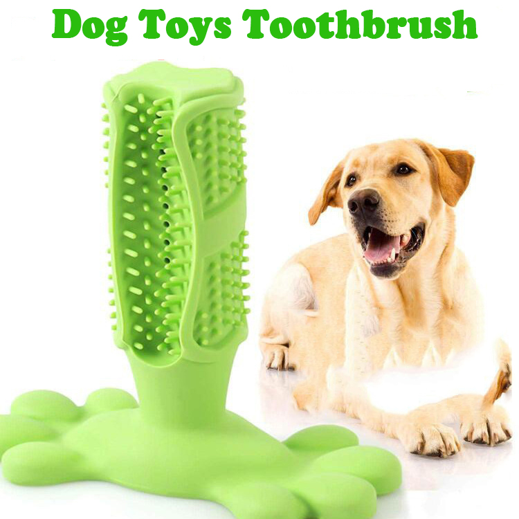 Dog Toys Rubber Toothbrush Dog Chew Toys Moderate Chewing Grinding Stick Fetch Toys for Pet Dog Supplies Toothbrush Biting Toy N image
