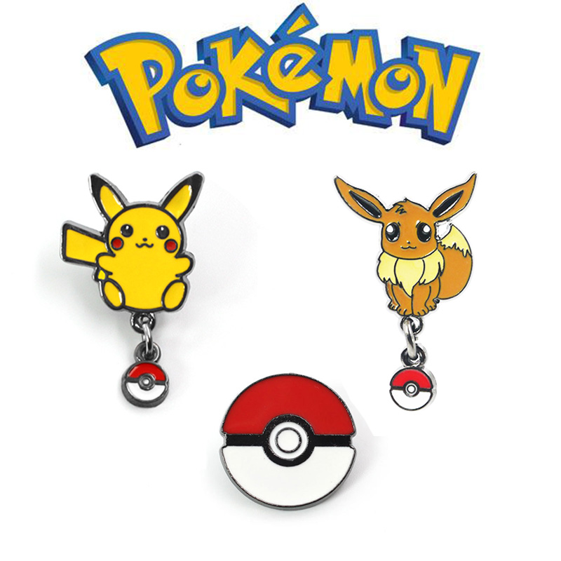 Pokemon Go Pikachu Eevee Costumes Acrylic Pin Badge Cosplay Brooch Pokemon Sword Shield Halloween Gift