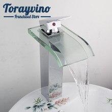 Torneira da bacia do banheiro de vidro bronze cachoeira spray toalete torneira pia para banheiro chrome bacia toque mixer deck montar