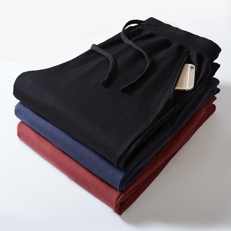 Модные спортивные штаны для мужчин, высокое качество, 2XL 8XL, размер, полная длина, шаровары, свободные, удобные, классические, повседневная одежда, 2020 Повседневные брюки      АлиЭкспресс