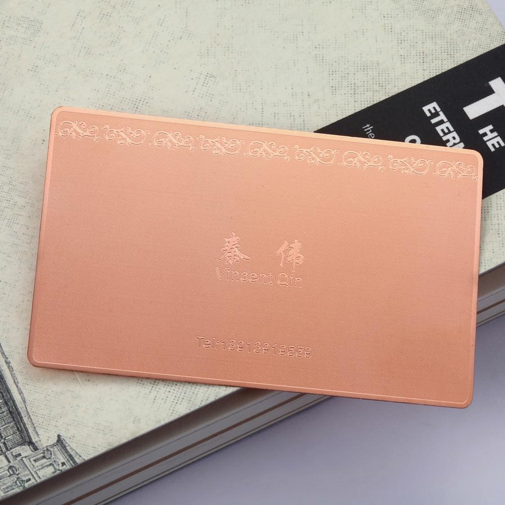 Personalizing Customize Rose Gold Metal Card Membership Card Plating Card