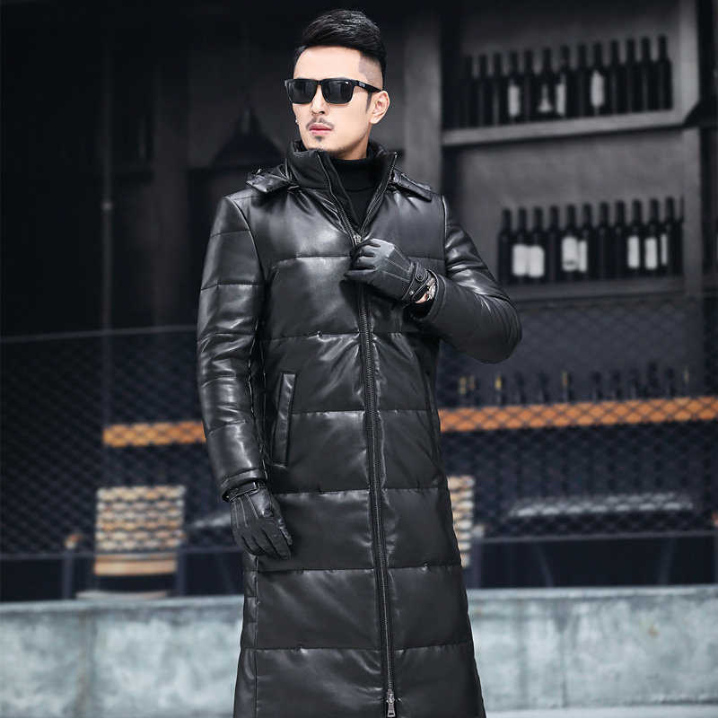 Winter Men's Down Jacket Hooded 90% Duck Down Coat Man Clothes 2020 Thick Warm Long Doudoune Homme Causal Coat Hiver T66