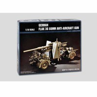 61701 1/18 German Flank 36 88MM Anti aircraft Gun Cannon Plastic Assembly Model Building Kit