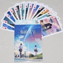 54 blätter/Set Nette Japan Anime Ihre Name Poker Karten Cartoon Ihre Name Sammlung Spielkarten Figur Spielzeug Freizeit spiele Geschenk