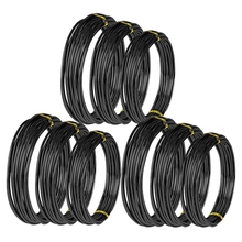 9 Rolls Bonsai Wires Anodized Aluminum Bonsai Training Wire with 3 Sizes (1.0 Mm,1.5 Mm,2.0 Mm),Total 147 Feet (Black) 9 rolls bonsai wires anodized aluminum bonsai training wire with 3 sizes 1 0 mm 1 5 mm 2 0 mm total 147 feet brown