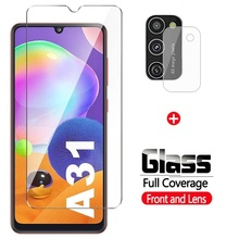 Tempered-Glass Screen-Protector Camera-Lens Samsung Galaxy A21s for A21/A31/A41/.. 2-In-1