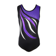 gymnastics leotard girls clothes figure skating rhythmic performance tank metallic dance