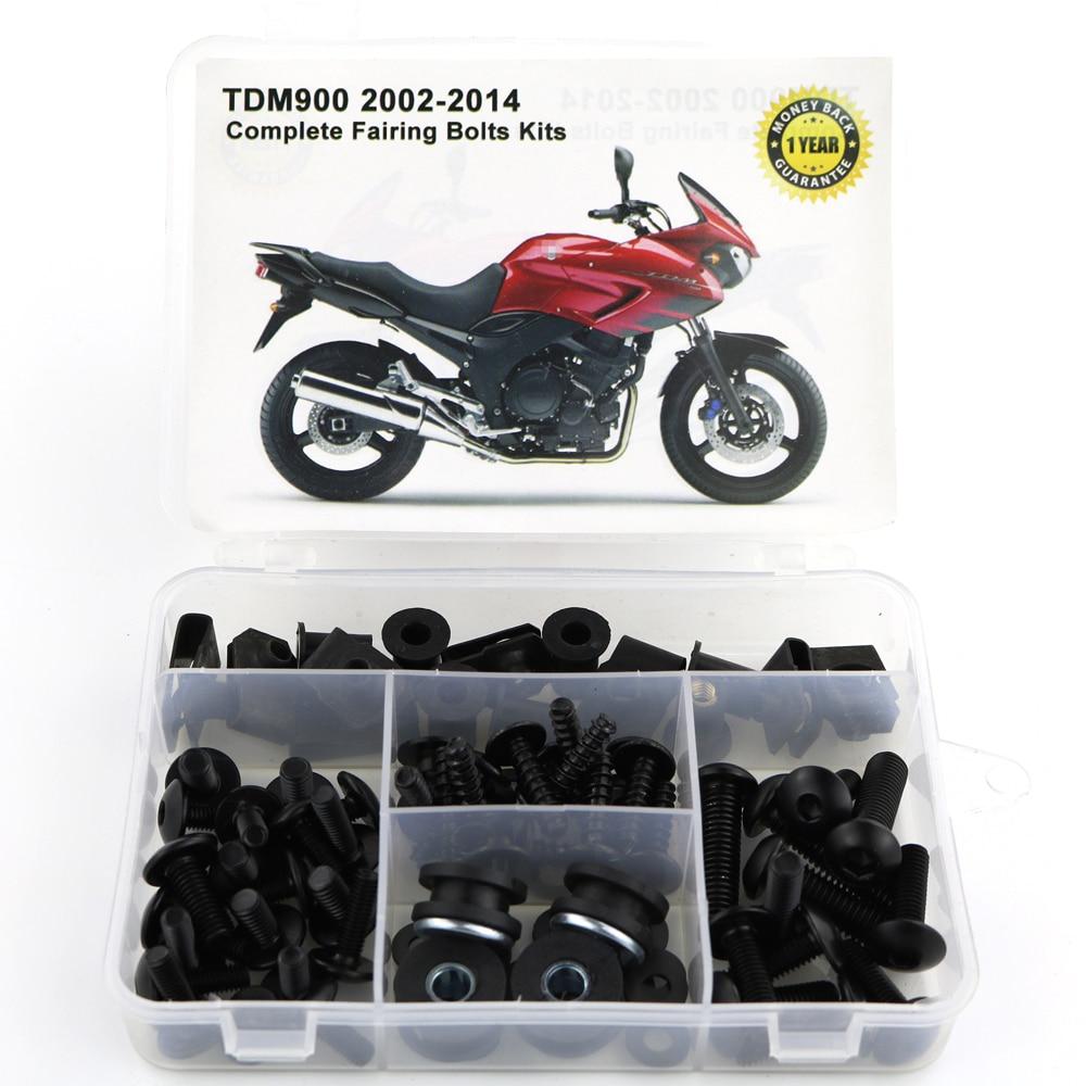 Для Yamaha TDM900 TDM 900 2002- мотоцикл сталь Полный Обтекатель Болты комплект обтекатель зажимы тела винты гайки OEM стиль - Цвет: Black
