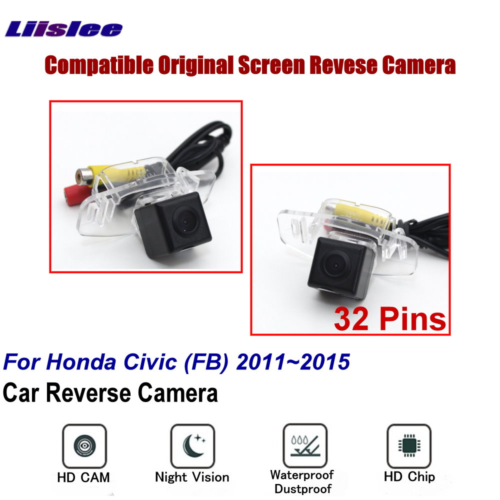cheapest Car Back Up Reverse Camera Sets For Honda Civic  FB  2011 2012 2013 2014 2015 Rear View Parking RCA Original Screen Compatible
